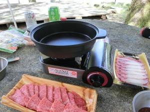 フッ素コーティングマルチプレートで焼き肉_20150822