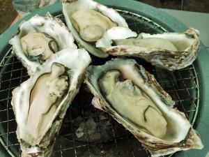 殻付き牡蠣を焼く_2_20160207