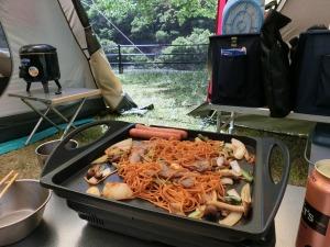 江草製麺の「唐麺」で焼そば_5_20160504