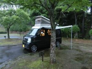雨のサイトと軽キャンKONG_1_20160619