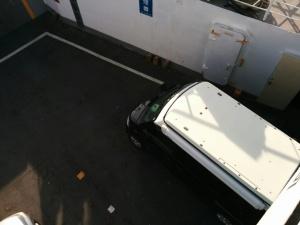 フェリーに乗船中軽キャンKONG20161225