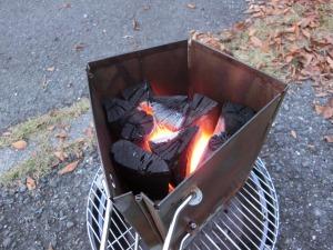 火おこし器で炭火着火_20161203