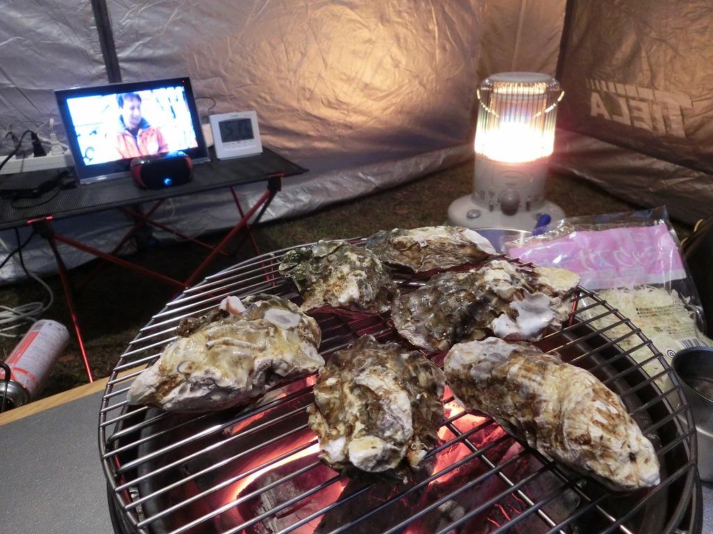殻付き牡蠣を炭火焼き_1_20161203