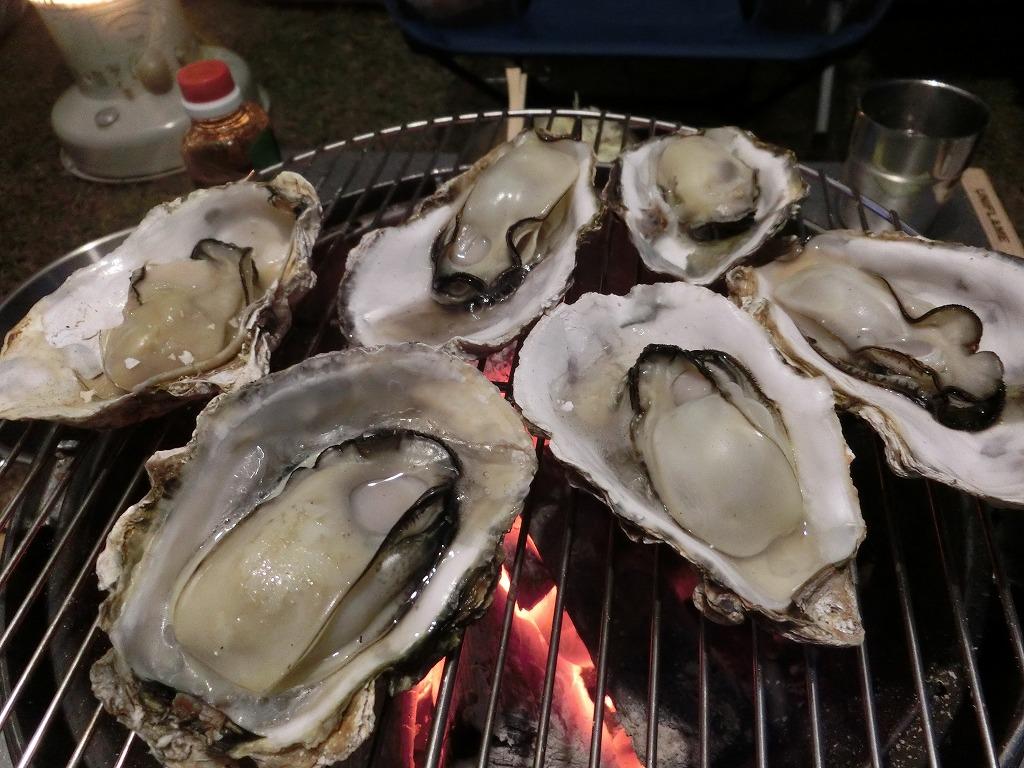 殻付き牡蠣を炭火焼き_2_20161203
