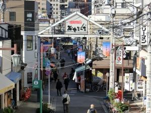 谷中銀座商店街の入り口_20161210