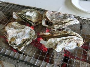殻付き牡蠣を焼く_20170225