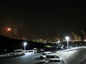 駐車場からの夜景_20170312