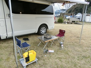 車中泊キャンプのセッティング_20170318