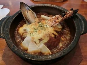 シーフードの焼カレー(レギュラー)1,050円_20170320