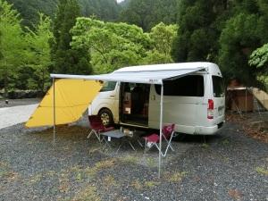 安田川アユおどる清流キャンプ場で車中泊キャンプ_2_20170504