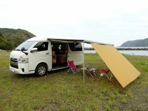 無料キャンプ場で車中泊キャンプ_20170505