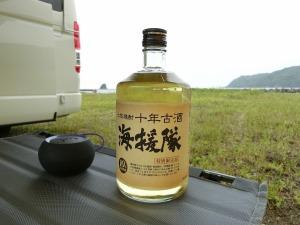 土佐焼酎の海援隊とBluetoothスピーカー_20170505