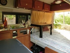 キャンプ場で車中泊準備OK_20170617